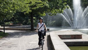 Lesen und Radeln in Frankfurt